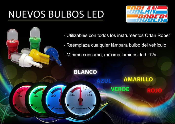 Lamparas Led para instrumental